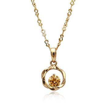 Circle pendant necklace 75831