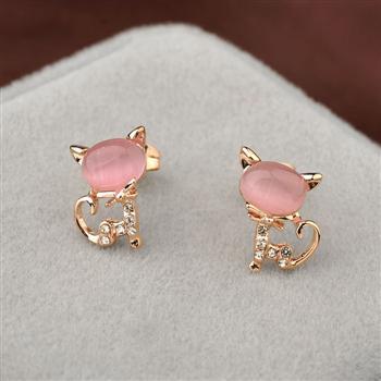 Fashion cat shape earring 3217420701