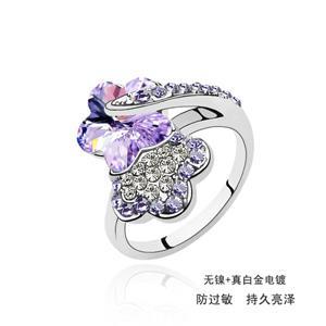 Austrian crystal ring     ky536