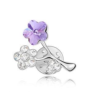Austrian crystal brooch KY3825