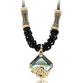 Popular crystal long necklace HXA350042B