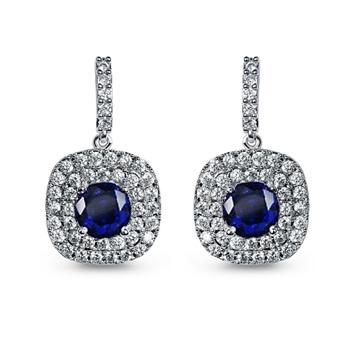 Popular zircon earring £¨bule£©E80012