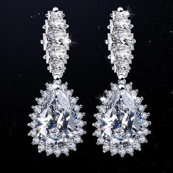 Popular zircon earring