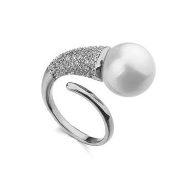 Popular pearl free size ring KA03063