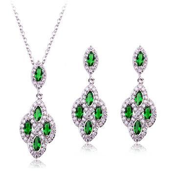 Popular AAA zircon jewelry set 1838450