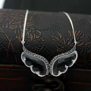 Fashion silver necklace 850117