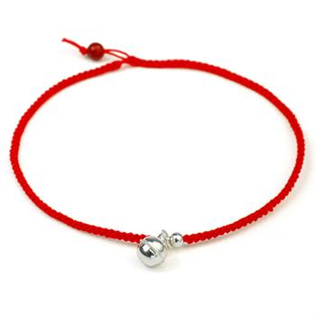 925 silver red rope anklet 670202