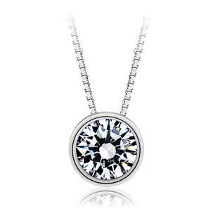 925 sterling silver diamond necklace