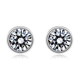 925 sterling silver diamond earring