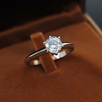 925 silver Heart & Arrows diamond ring 7...