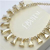 Austria crystal & silver necklace