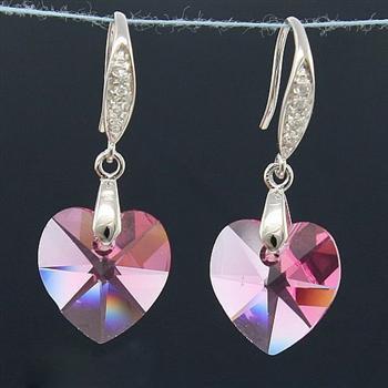 Austria crystal & silver earring (ma...