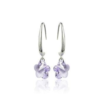 Austria crystal & silver earring