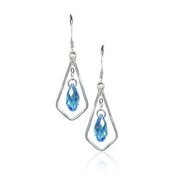 Austria crystal & 925 silver earring...