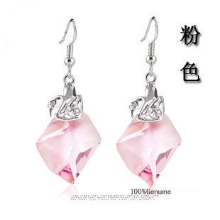Austria crystal & 925 silver earring