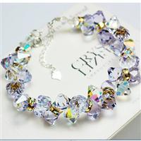 Austria crystal & 925 silver bracele...