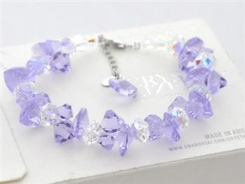 Austria crystal & silver bracelet