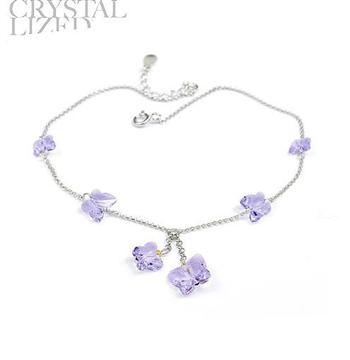 Austria crystal & 925 silver anklet ...