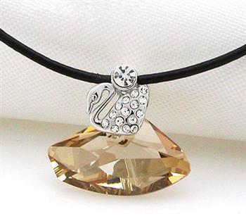 Austria crystal & silver pendant