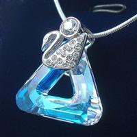 Austria crystal & silver pendant (no...