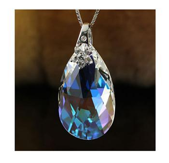 Austria crystal & 925 silver pendant...