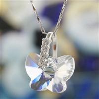 Austria crystal & silver pendant(no ...