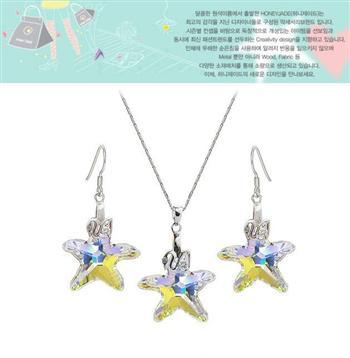 Austria crystal & silver jewelry set(no chain)