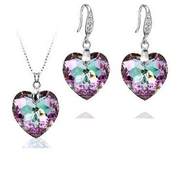 Austria crystal & silver jewelry set...