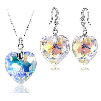 Austria crystal and sterling silver jewelry set