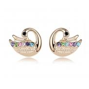 swan earring SE8381