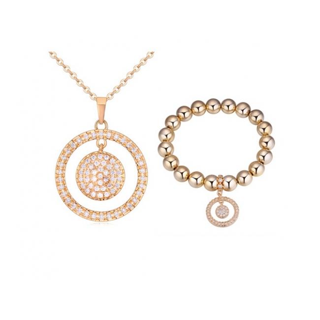 Fashion necklace and bracelet set ky20397