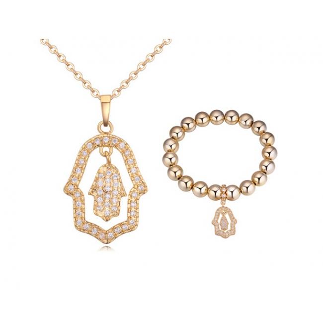 Fashion zircon jewelry set ky20380