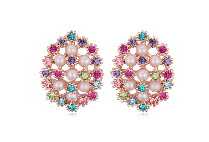 Austrian crystal pearl earrings ky20106
