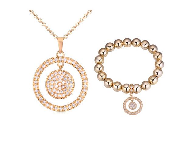 Fashion necklace and bracelet set ky2039...