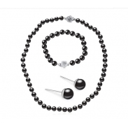 black pearl jewelry set SE21682