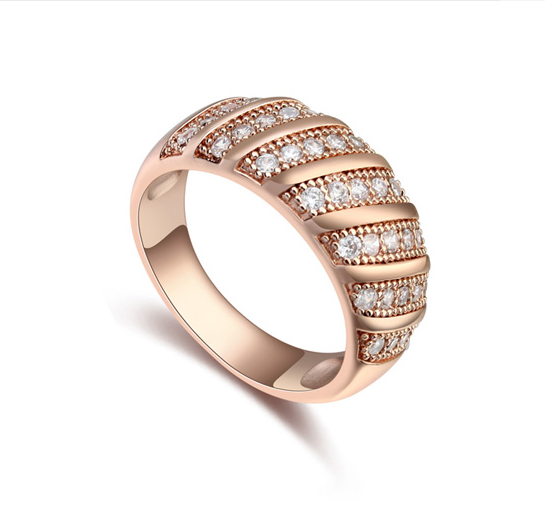 rose gold ring SE17615