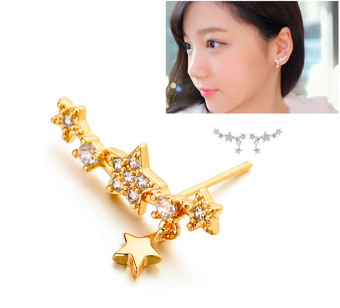 Popular zircon earrings 208000