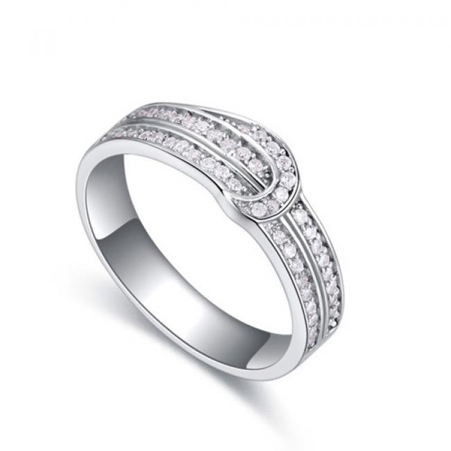 fashion silver ring QS22284