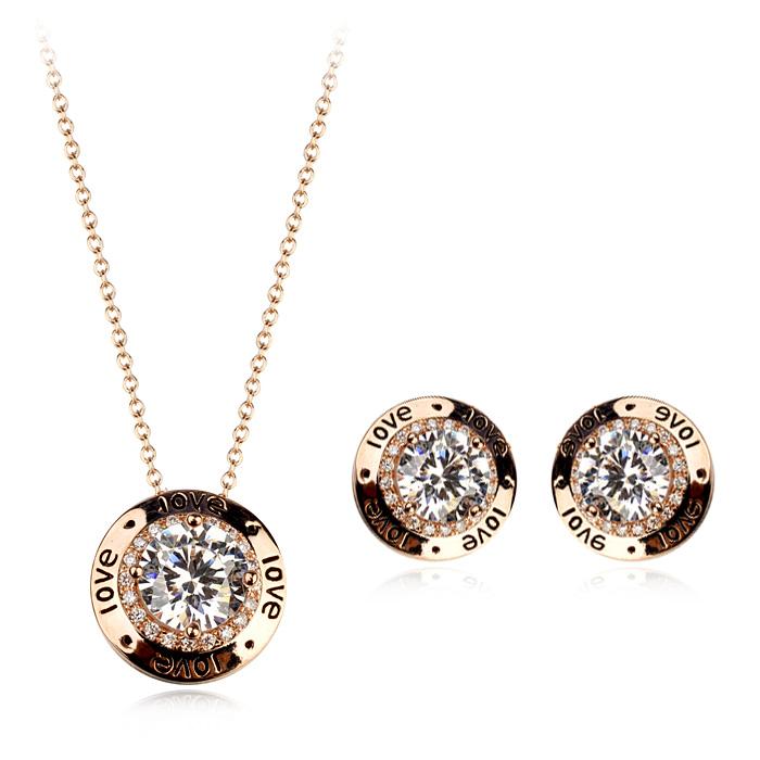 zircon jewelry set 220880