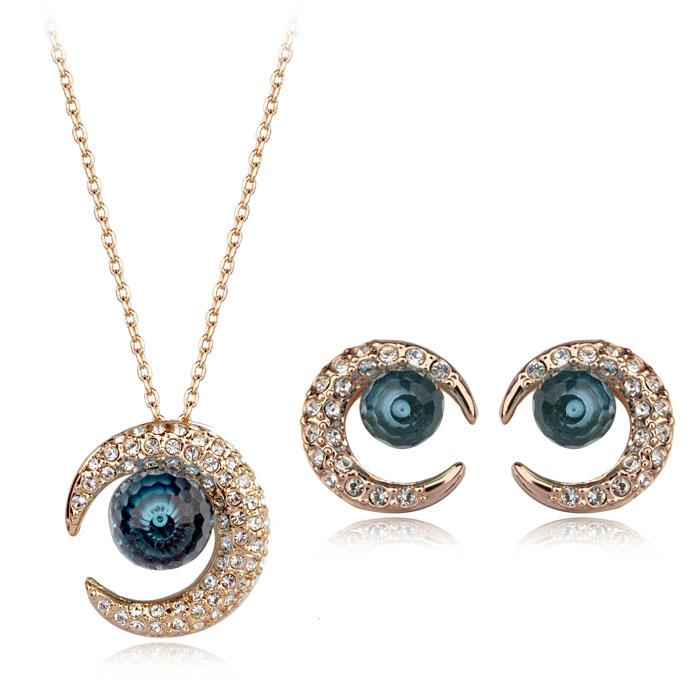 Austrian crystal jewelry set 220498