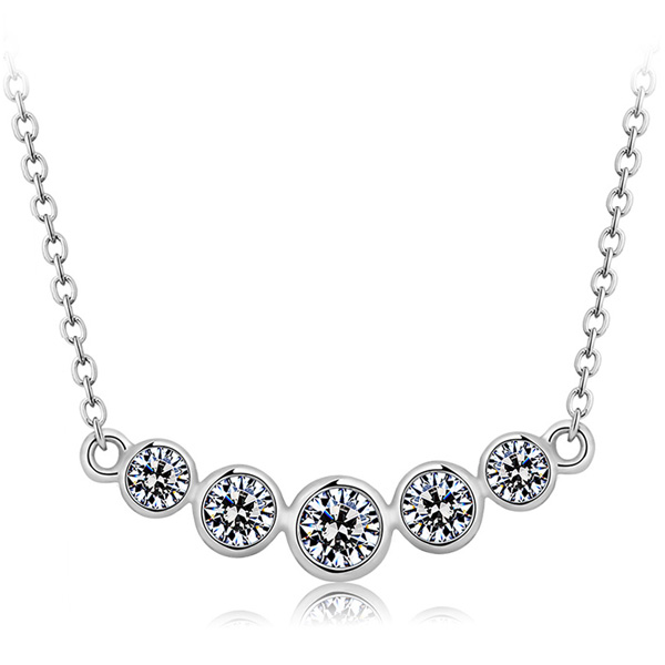 fashion silver necklce(with chain)SN0000
