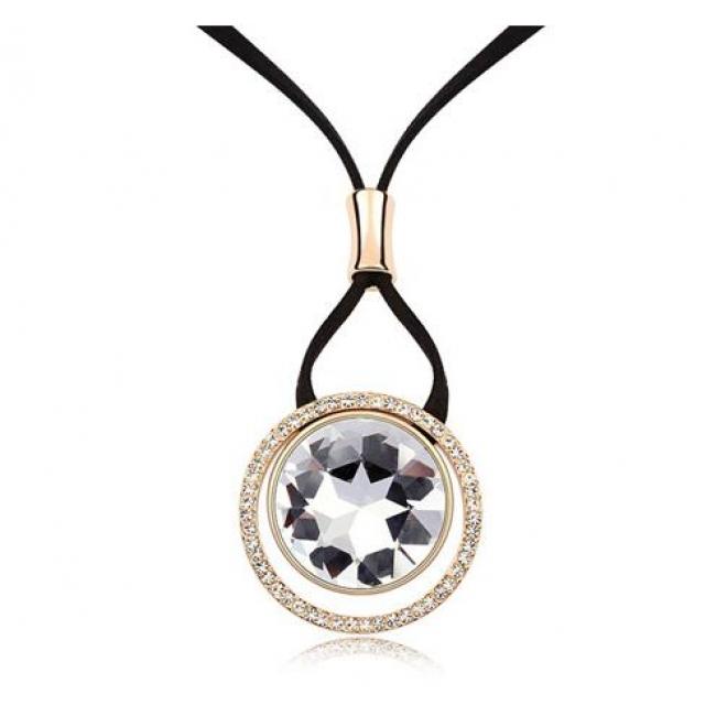 Kovtia crystal long necklace HXA5037