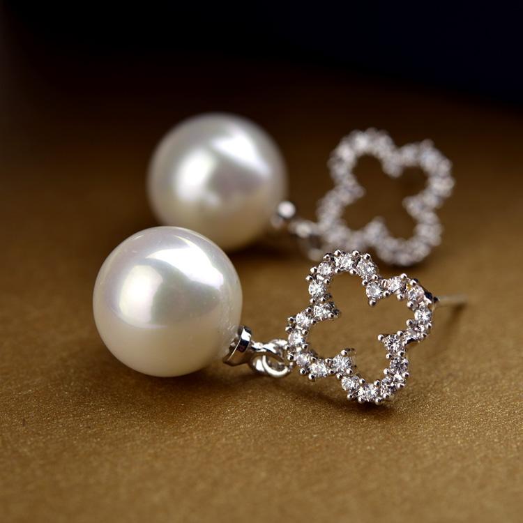 clover pearl earring DYZ2290
