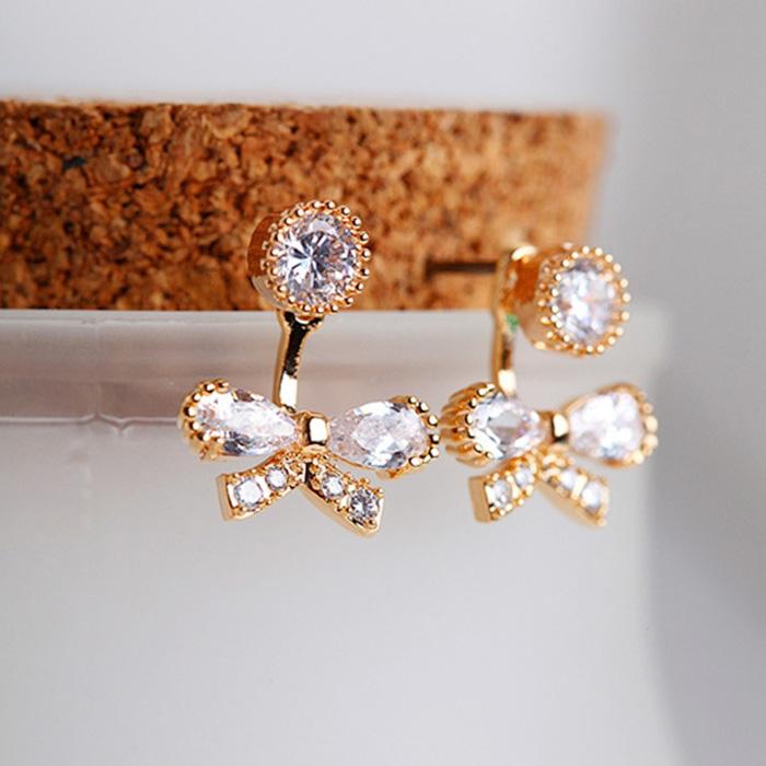 bowknot zircon earring 208028