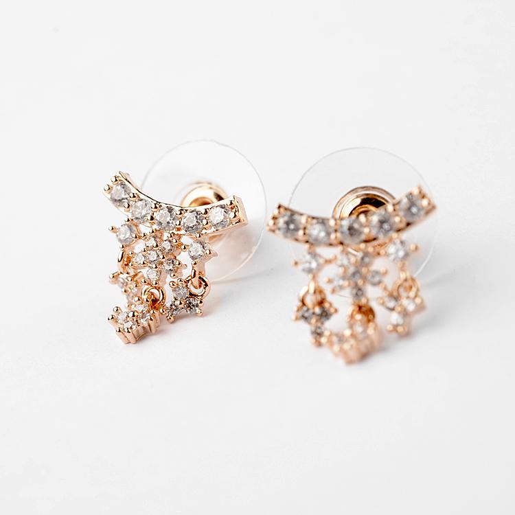moon zircon earring 208019