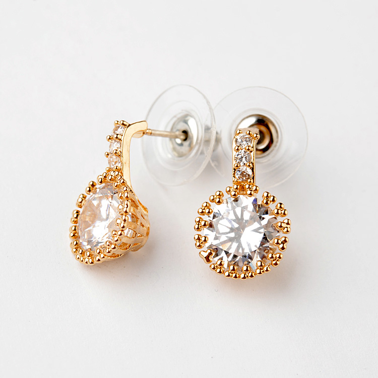 gold zircon earring 849200