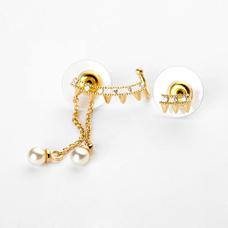 bullet gold earring 849200