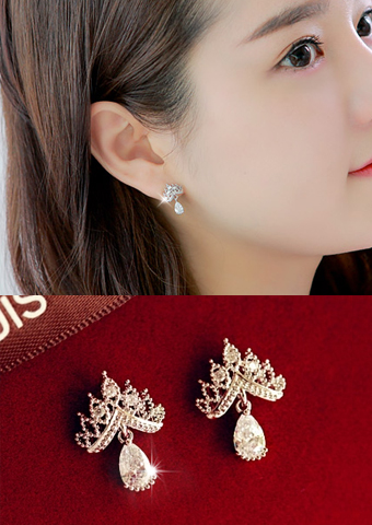 crown drop earring 849200
