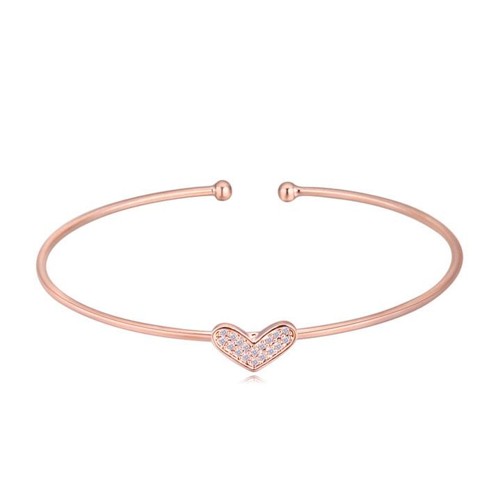 heart cuff  bangles 403007