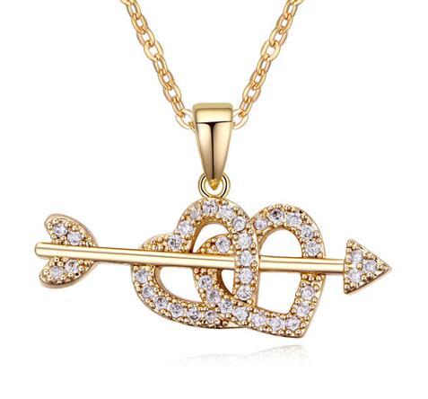Austrian crystal heart necklace ky17715